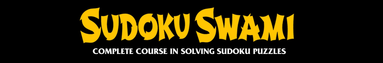 Sudoku Swami's banner depicting his complete course in solving sudoku puzzles