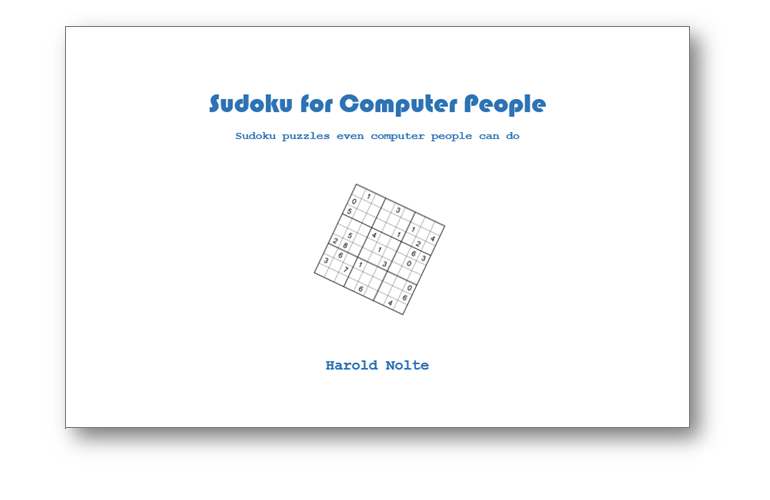 Sudoku for Computer People Book cover showing the design
