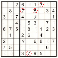 partially completed sudoku puzzle box 2 now has 57 twins that have been solved